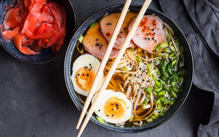 ramen, a traditional japanese dinner food