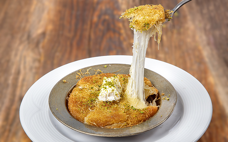 knafeh, a middle eastern food.
