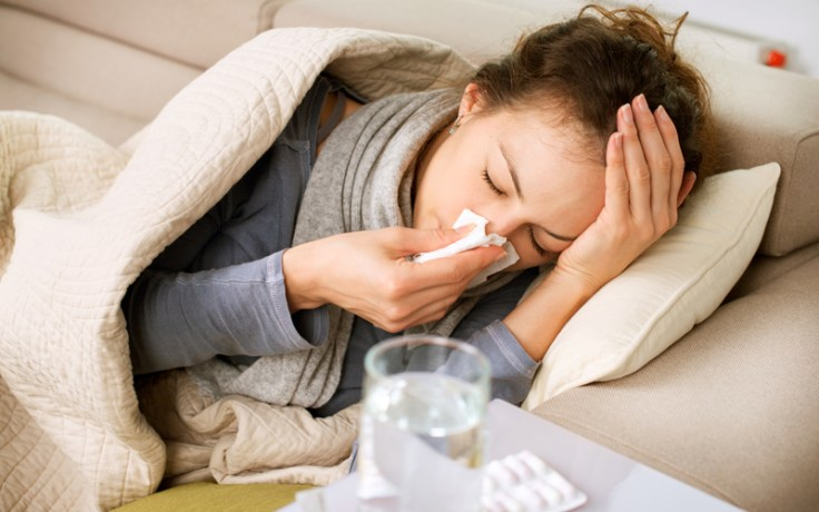 A woman has a lurgy, an example of the british slang.