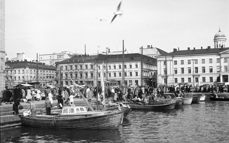Old photo of Finnish Market square
