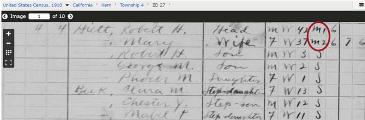 marriages 1910 census