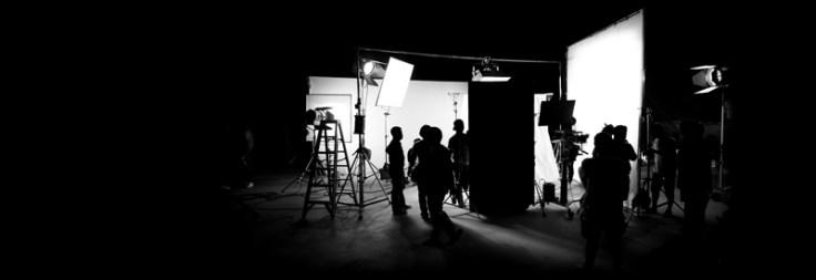 A film crew on a set