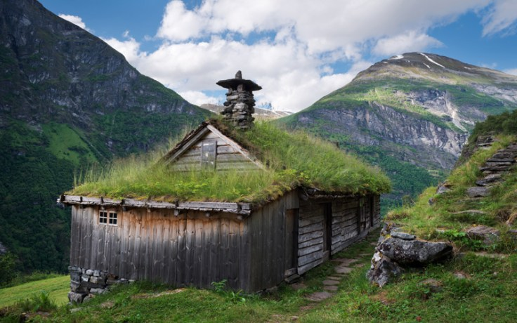 a bygd, or farmhouse, norway.