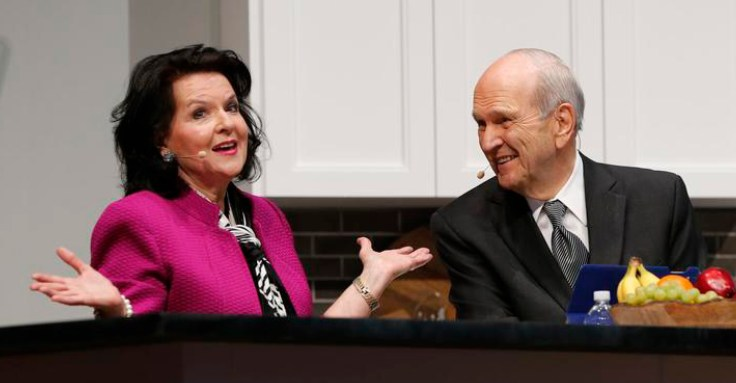 Sister Nelson and President Nelson at RootsTech 2017.