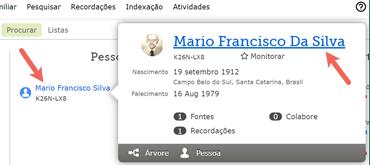 Captura de tela da caixa de resumo de um antepassado no FamilySearch.org