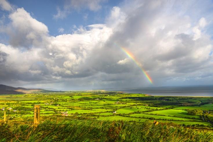 a rainbow in Ireland.