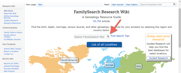 A screenshot showing working on the FamilySearch family tree.
