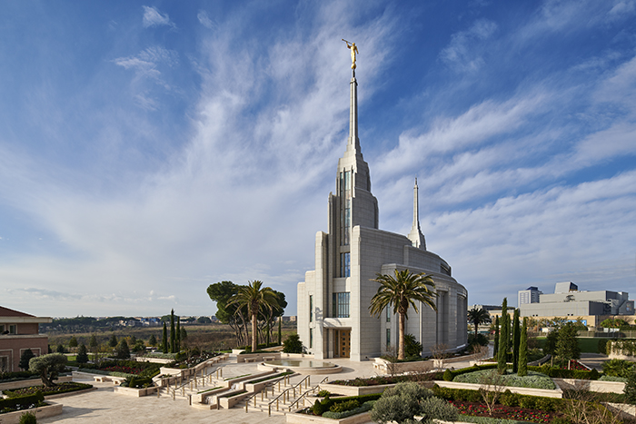 Landscape view of Rome, Italy Temple.
