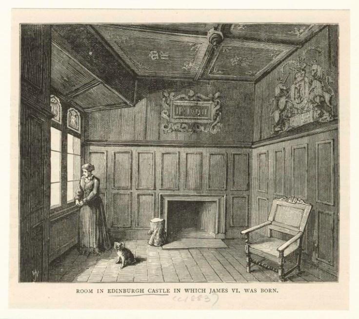 a print depicting a room in Edinburgh Castle.