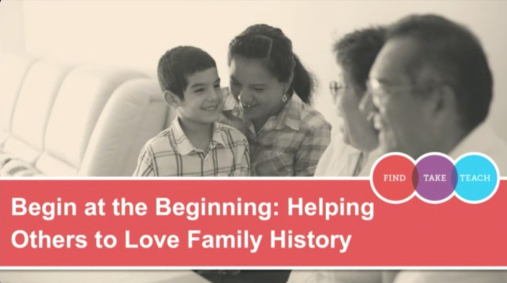 Teach others to love family history through FamilySearch.