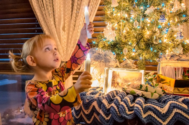 Light the world with Christmas season with family history.
