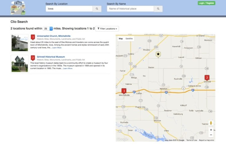 Theclio.com is both a website and an app that can help you deepen your understanding of an area's history.