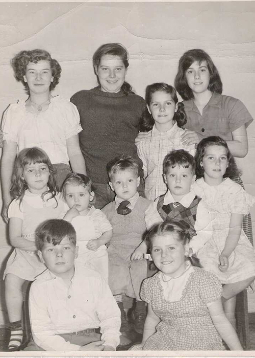 Thomas MacEntee's mother and her siblings.