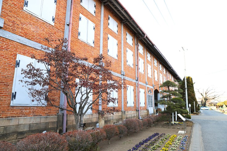 Tomioka silk mill in Japan. Travelling to japan would allow someone to see this place.