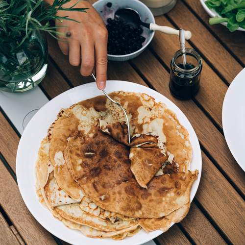 Traditional Swedish pancake (pannkakor) recipe
