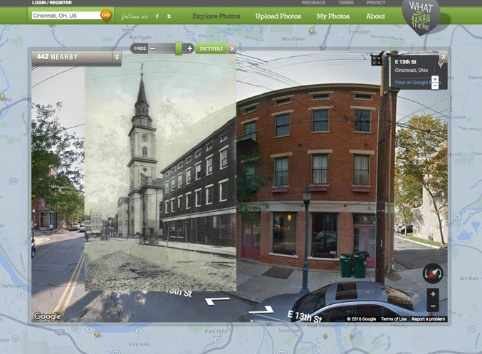 With WhatWasThere.com, you can see what the area looks like today versus what it looked like when the photo was taken