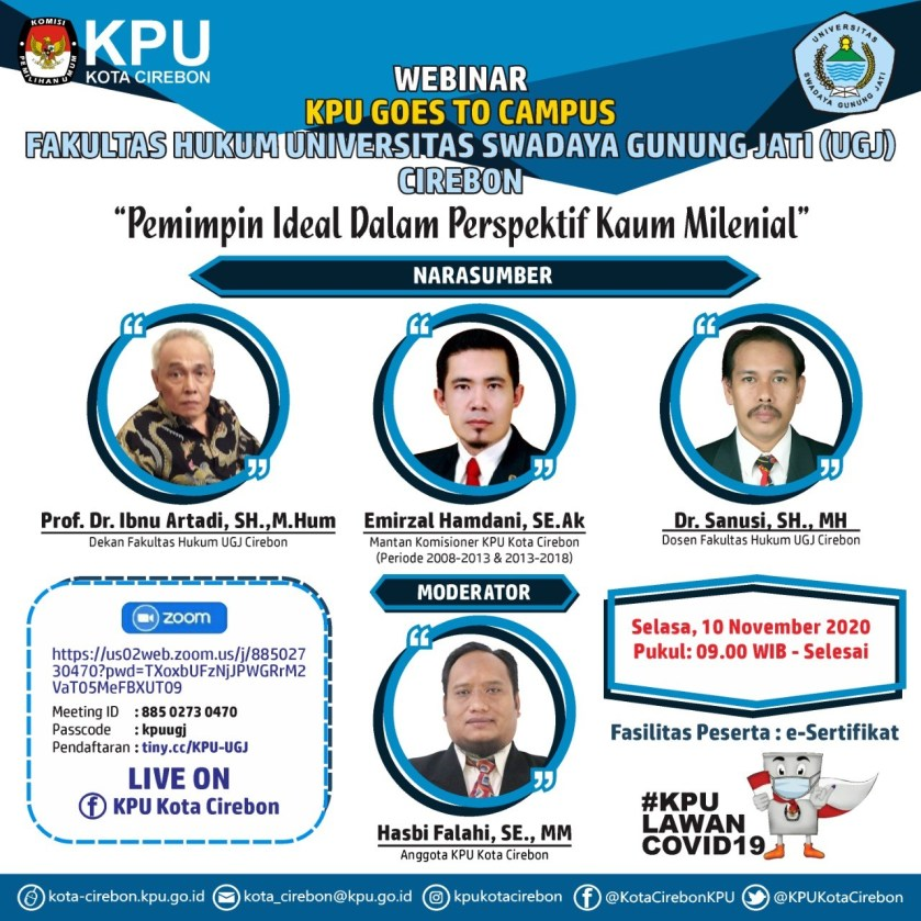 FH UGJ Gelar Webinar KPU Goes to Campus