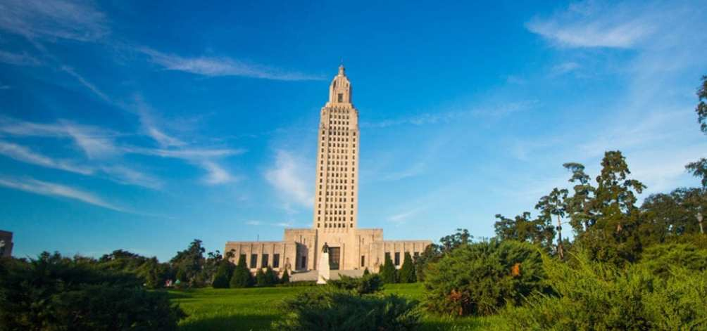 The Louisiana State Capitol Building.