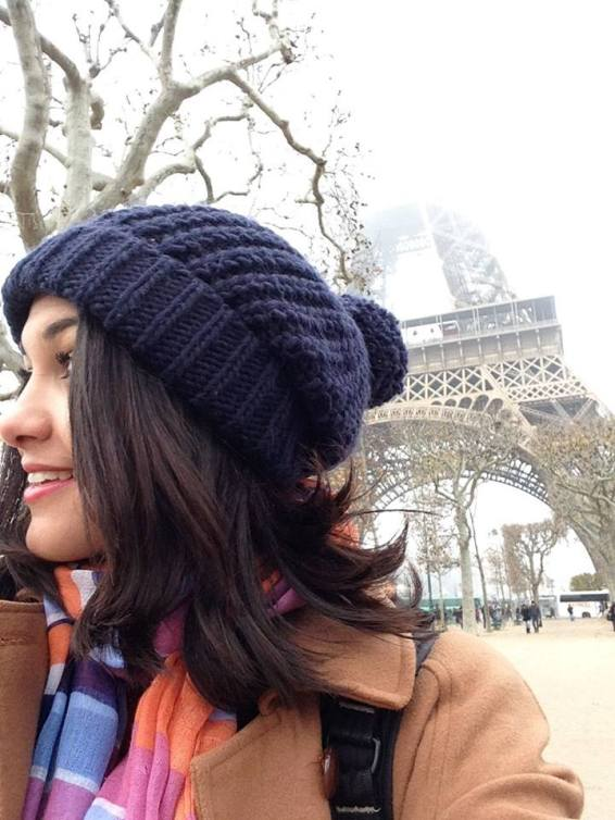 Foto: Isabelle em sua primeira viagem internacional - 1 mês na Europa (12/2014)