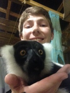Larry the lemur and myself