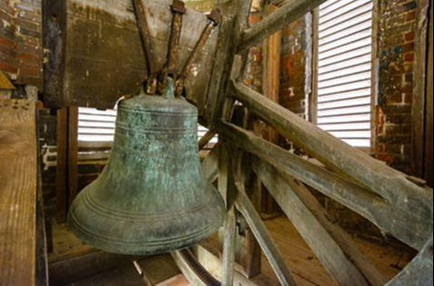 This Revere Bell was donated to the Corporation Court House by Silas Wood.