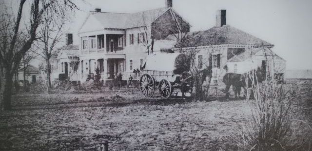 Pictured is what Chatham Manor looked like shortly after the Civil War.