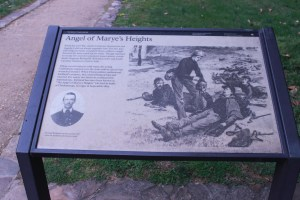 Pictured here is the Angel of Marye's Heights State Marker