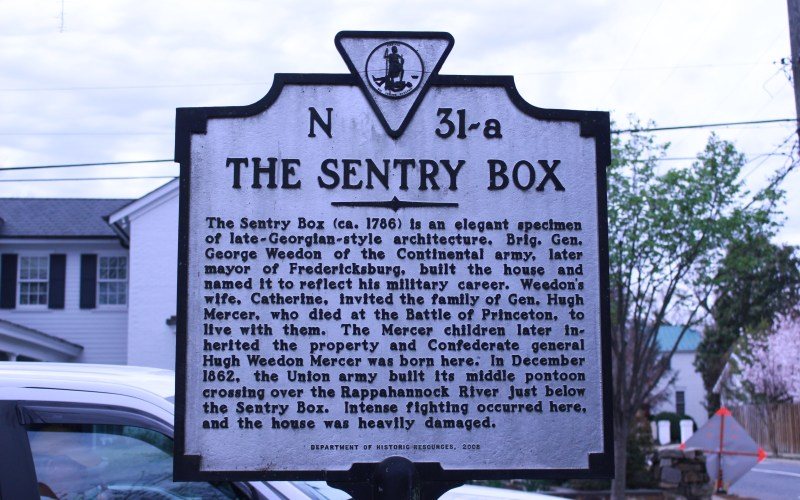 Picture of the sentry box State Marker