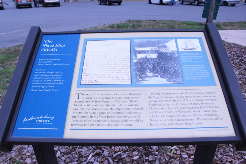 Pictured is the Slave Ship Othello State. Marker