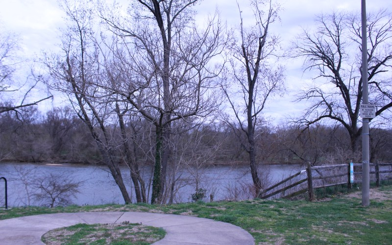 Pictured the view of the Rappahannock River behind Shiloh Church (Old Site)
