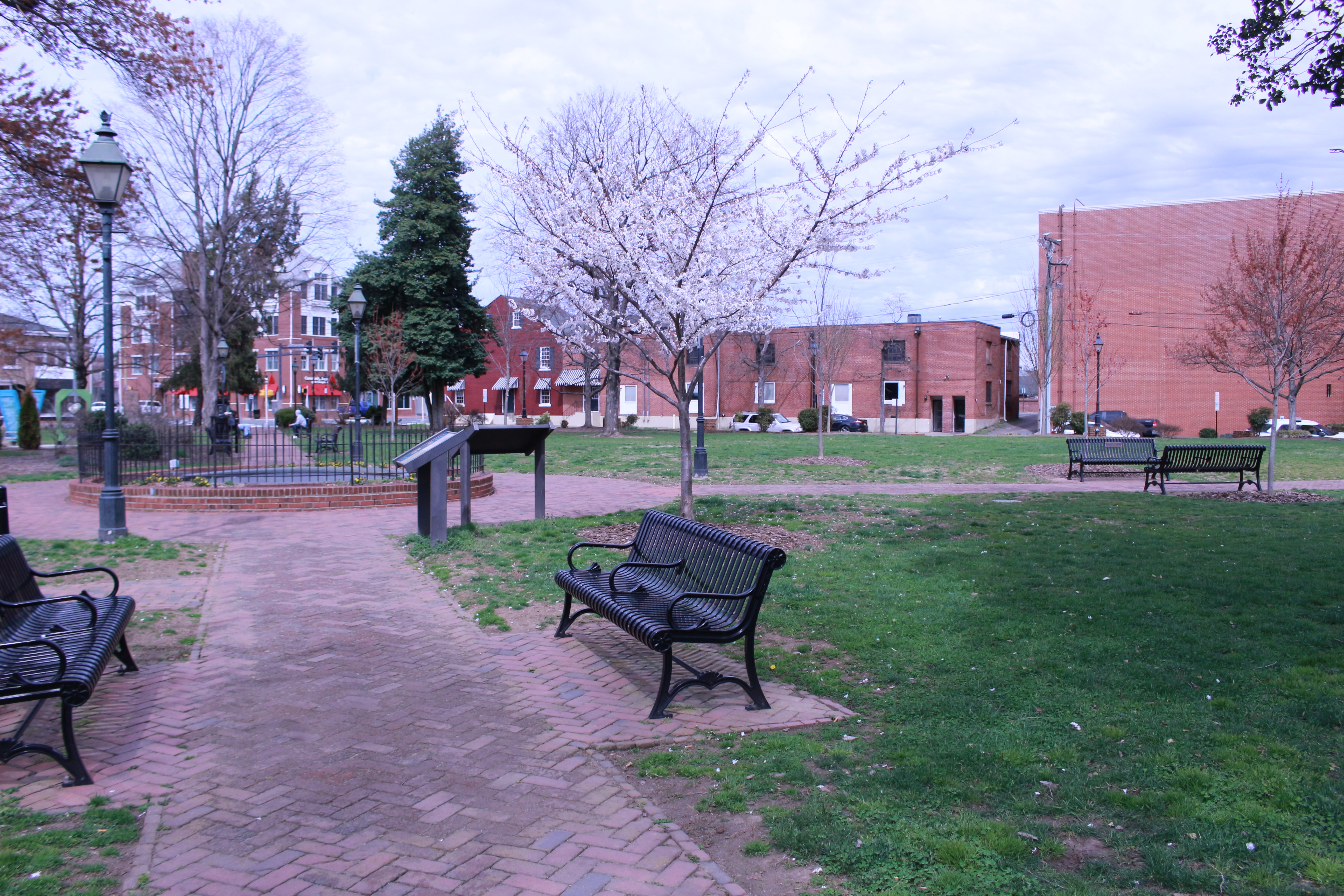 Pictured is the a side view oh Hurkamp Park landscape
