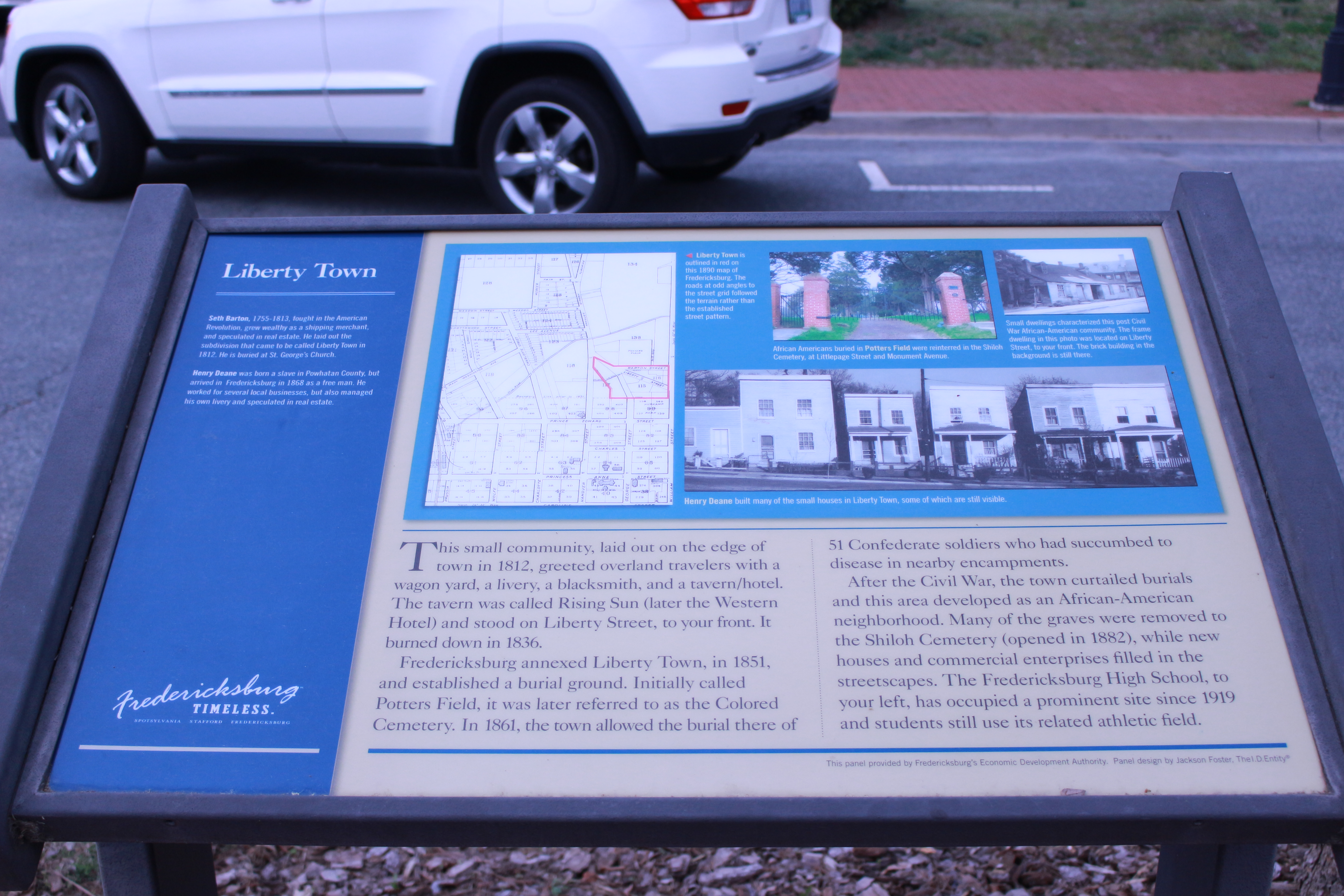 Picture of the Liberty Town State Marker