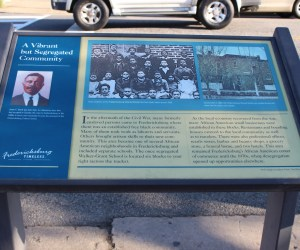 Pictured here is A Vibrant by Segregated Community State Marker