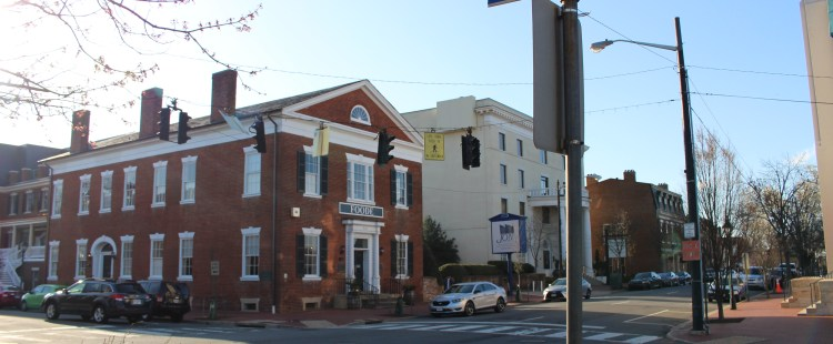 Pictured here is the old Fredericksburg National Bank--now the restaurant Foode