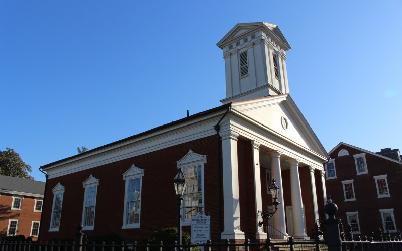Pictured here is the Presbyterian Church of Fredericksburg
