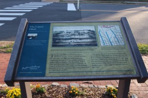 Pictured here is the Canal Ditch State Marker