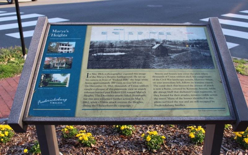 Pictured here is Marye's Heights State Marker