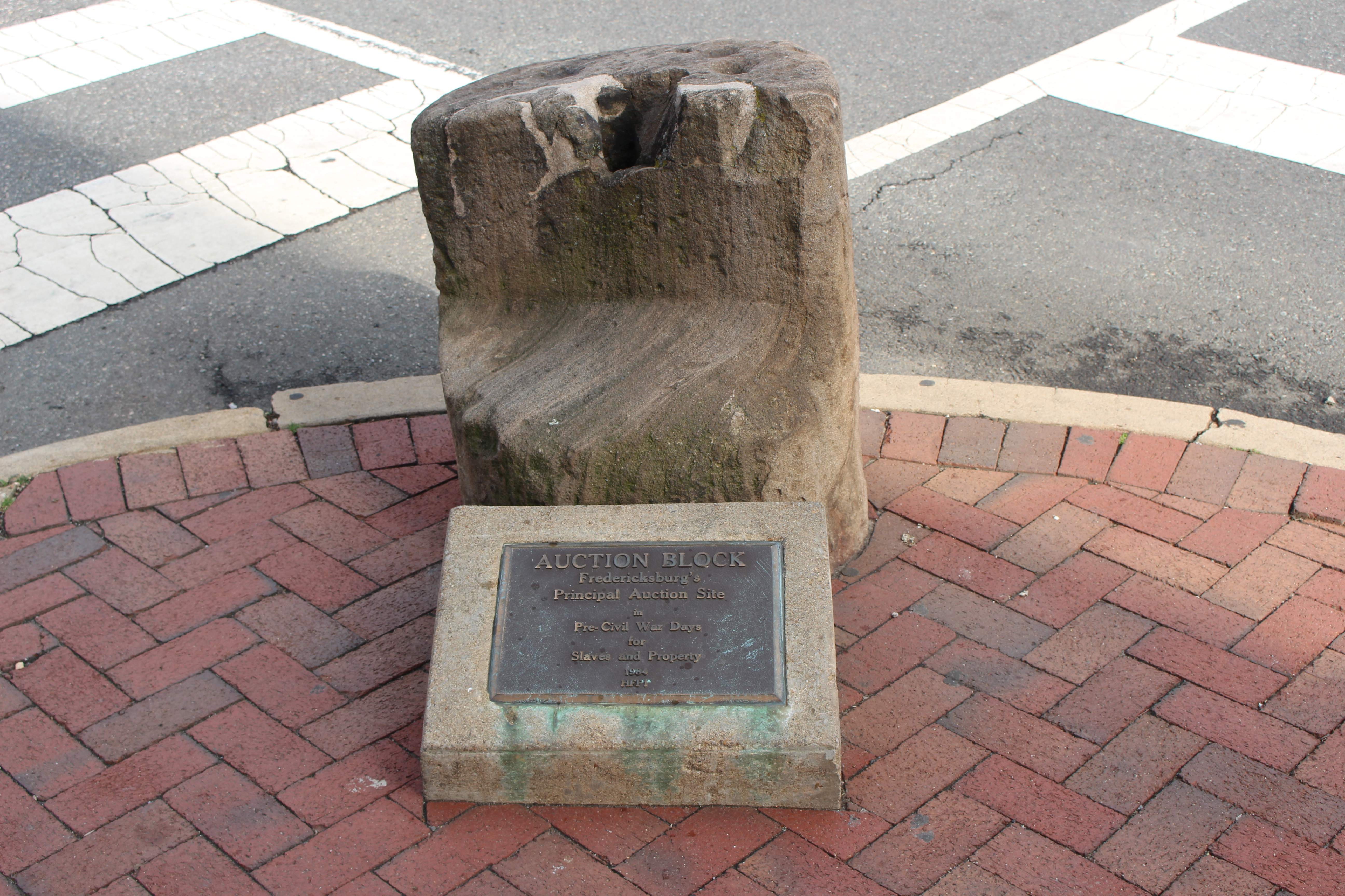 Pictured here is the slave auction block off of Williams Street