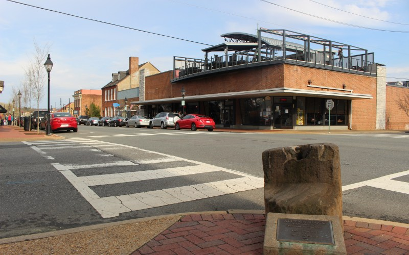 Pictured here is the Slave Auction Block and a view of Williams Street