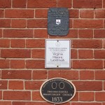 Pictured here is the Fredericksburg Presbyterian Church Building Markers