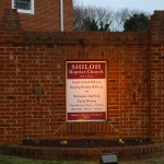 Pictured here is Shiloh Baptist Church (New Site) Sign