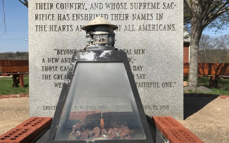 Picture of the veterans eternal flame monument
