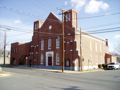 This is the Shiloh Baptist Church (New Site) built by the Black population of the original Shiloh Baptist Church.