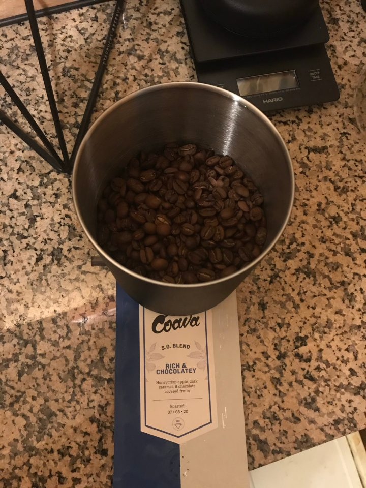 Photo of coffee beans from Coava Coffee's S. O. Blend.