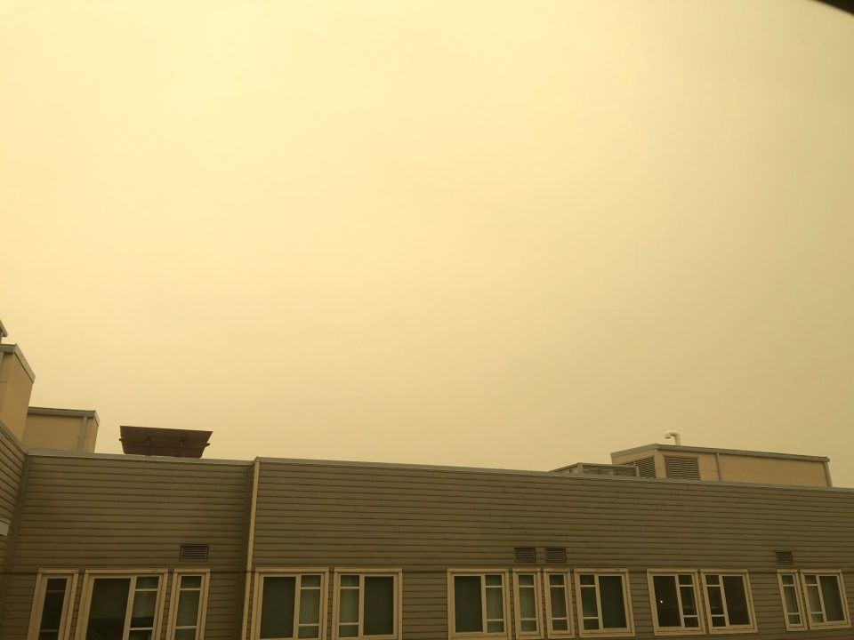 Photo of thick smoke from forest fires.