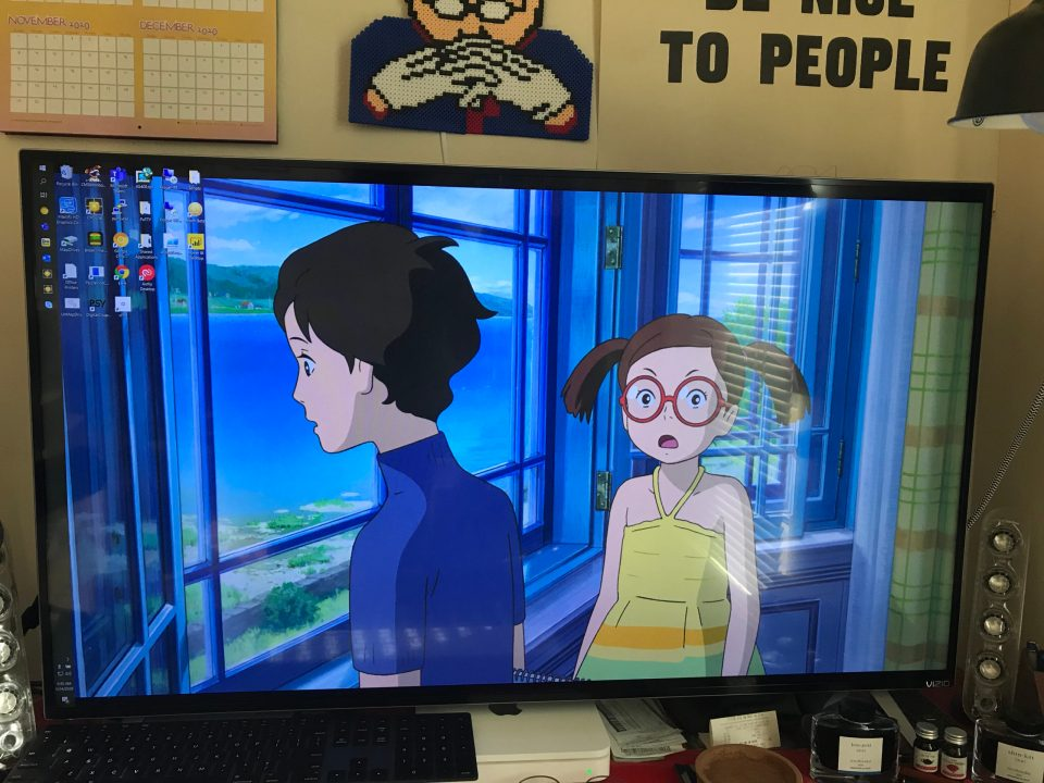 "Photo of a scene from ""When Marnie Was There"" used as a desktop background."