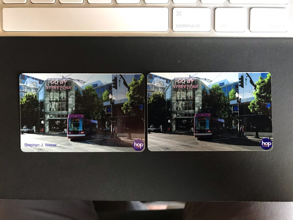 Photo of two custom Hop card covers.