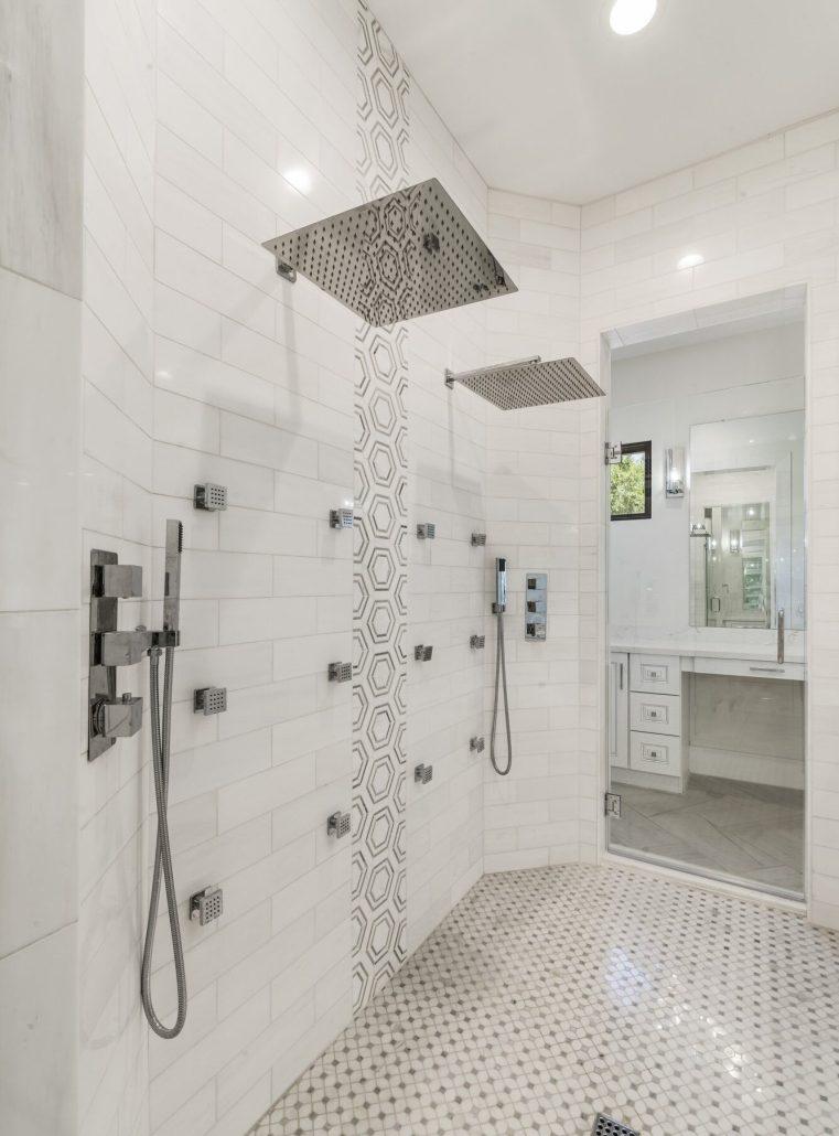 Custom multi head shower system in paradise valley az shower