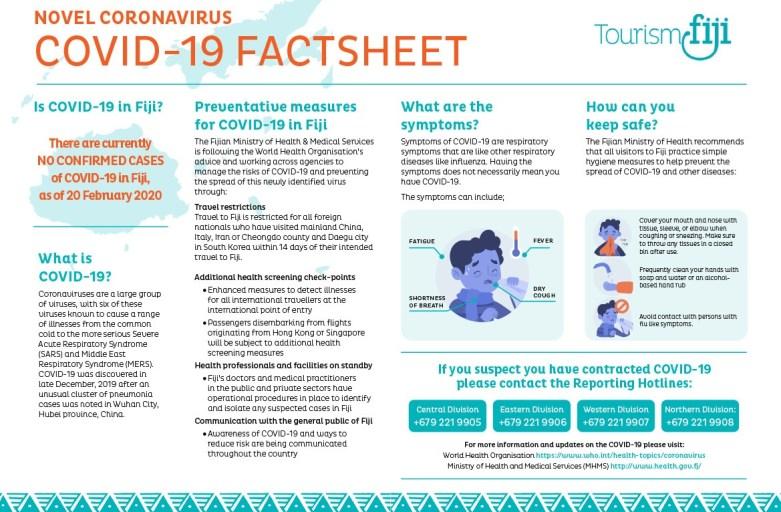 Tourism Fiji Releases COVID-19 Factsheet