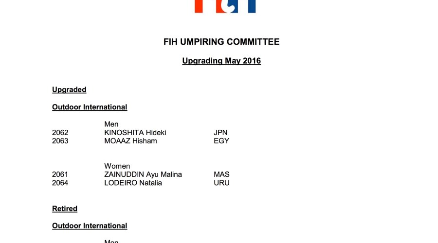 May FIH Upgrades